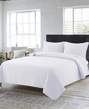 Набор из 3 предметов Solid Washed Quilt, Twin Country Living