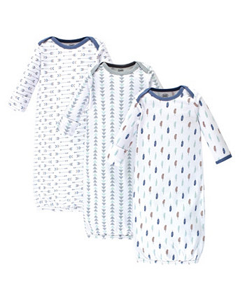 Baby Girl Cotton Gowns, 3-Pack Luvable Friends