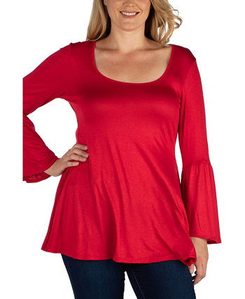 Women's Plus Size Flared Tunic Top 24seven Comfort Apparel
