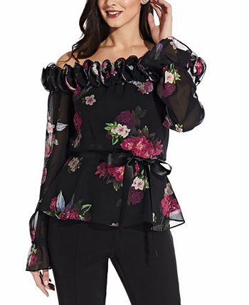 Printed Off-The-Shoulder Top Adrianna Papell