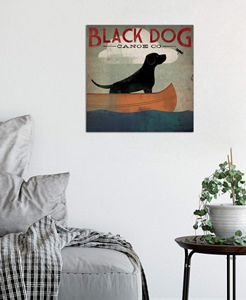 """Black Dog Canoe Co. II"" by Ryan Fowler Gallery-Wrapped Canvas Print (26 x 26 x 0.75) ICanvas"