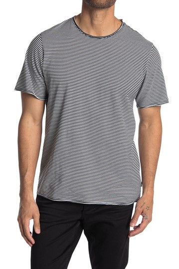 Striped Raw Edge T-Shirt OVADIA AND SONS