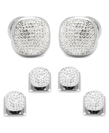 Men's Pave Cufflink and Stud Set Ox & Bull Trading Co.