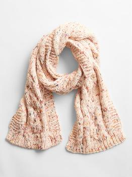 Cable-Knit Scarf Gap Factory