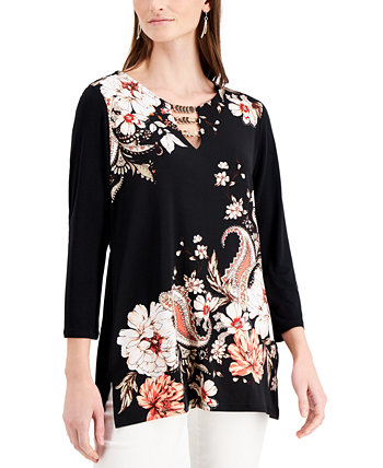 Printed Tunic, Created for Macy's J&M Collection