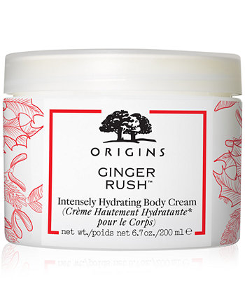 Ginger Rush Intensely Hydrating Body Cream Origins
