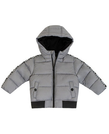 Baby Boys Heavy Weight Puffer Jacket with Logo Sleeve Taping Michael Kors