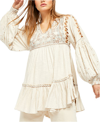 Топ с вышивкой Much Love Free People