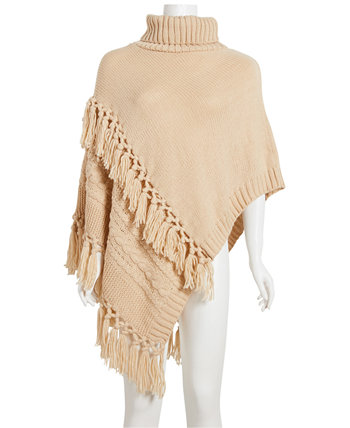 Cable-Knit Poncho Steve Madden