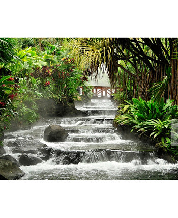 Tranquil Waterfall Wall Mural Brewster Home Fashions