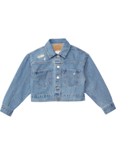 High-Rise Oversized Denim Trucker Jacket (Big Kids) Levi's® Kids