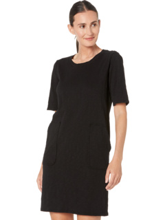 New Slub Jersey 1/2 Sleeve Open Crew Shift Dress Mod-o-doc