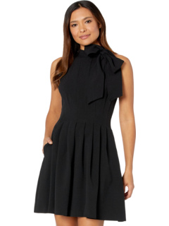 Kors Crepe Bow Neck Fit-and-Flare Vince Camuto