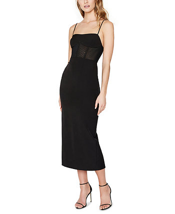 Roberta Ponte-Knit Midi Dress Bardot