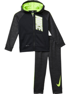 Therma Pop Zip-Up Hoodie and Pants Two-Piece Set (Little Kids) Nike Kids