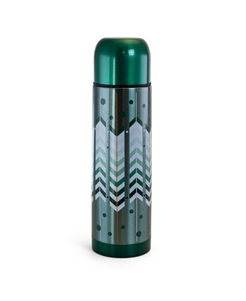Cassidy Wave Stainless Steel Travel Thermal Bottles with Assorted Designs, 2 Piece Gibson Home