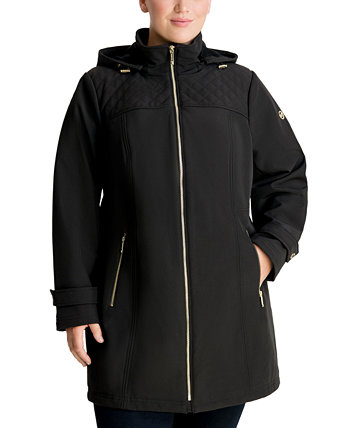 Plus Size Hooded Raincoat, Created for Macy's Michael Kors