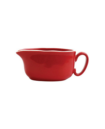 Chroma Red Gravy Boat VIETRI