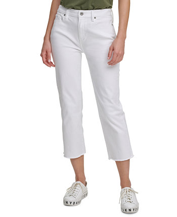 Juniors' Cropped Straight-Leg Jeans DKNY Jeans