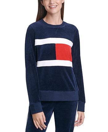 Colorblocked Velour Sweatshirt Tommy Hilfiger