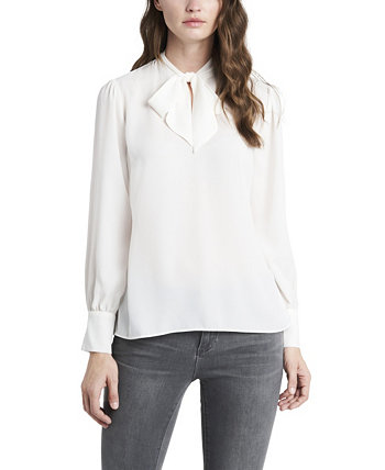 Women's Long Sleeve Tie Neck Blouse Vince Camuto