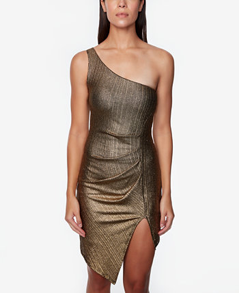 Juniors' One-Shoulder Foil Dress JUMP