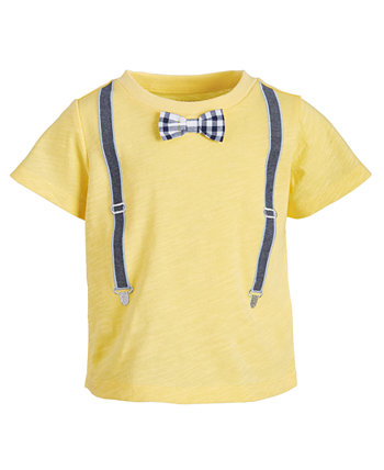 Toddler Boys Suspenders Cotton T-Shirt, Created for Macy's First Impressions