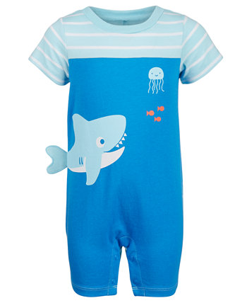 Baby Boys Shark Cotton Sunsuit, созданный для Macy's First Impressions