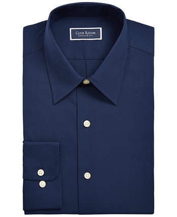 Men's Classic/Regular-Fit Solid Dress Shirt, Created for Macy's Club Room