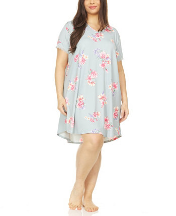 Annette Printed Plus Size Sleepshirt Flora Nikrooz Collection