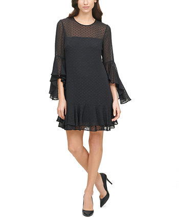 Ruffled Swiss Dot Dress Vince Camuto
