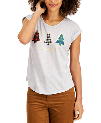 Graphic-Print Top, Created for Macy's Style & Co