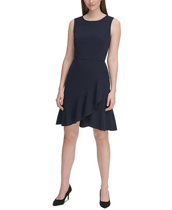 Ruffle-Hem Fit & Flare Dress Tommy Hilfiger