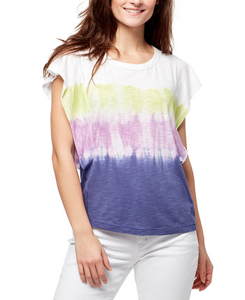 Ruffled Tie-Dyed Top William Rast