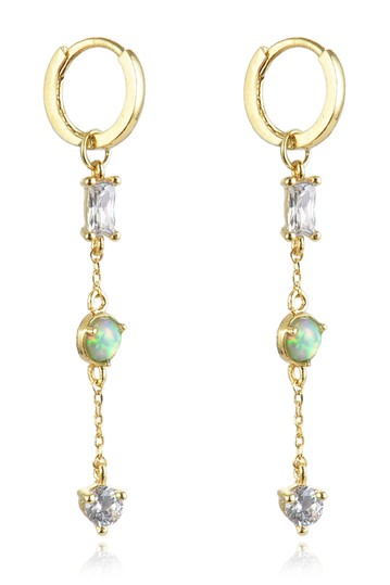 Susy Opal Crysal Drop Earrings Eye Candy Los Angeles