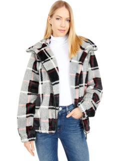 Minky Plaid Zip-Up Super Soft Faux Fur Jacket Dylan by True Grit