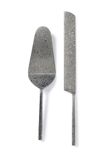 Tube Silver 2-Piece Cake Serving Set Jay Import