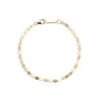 14K Gold Nude Chain Anklet Lana Jewelry