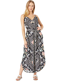 Diamond Vines Jumpsuit Cover-Up with Removable Belt Nanette Lepore