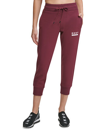 Sport Cotton Relaxed Ankle-Crop Joggers DKNY