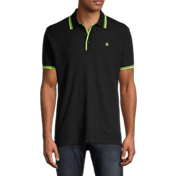 Short-Sleeve Pique Cotton Polo Cult Of Individuality