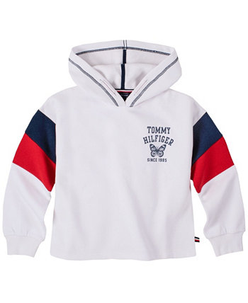 Big Girl Slinky Popover Hoodie with Glitter Tommy Hilfiger