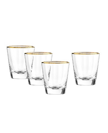 Dominion Gold Double Old Fashioned Glasses, Set Of 4 Qualia Glass