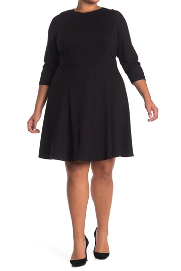Seamed Fit & Flare Dress (Plus Size) Eliza J