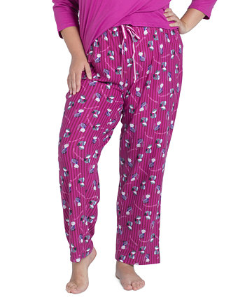 Plus Size Printed Butter-Knit Pajama Pants MUK LUKS