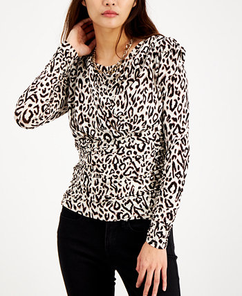 INC Ruched Puff-Sleeve Top, Created for Macy's INC International Concepts