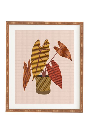 Alisa Galitsyna Patterned Alocasia Bamboo Framed Wall Art Deny Designs