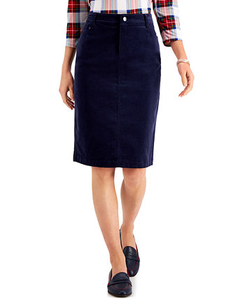 Corduroy Tummy-Control Skirt, Created for Macy's Charter Club