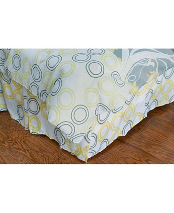 Flowers Twin Bed Skirt Riztex USA