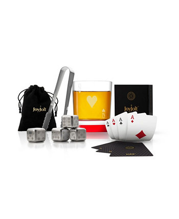 Poker Queen of Hearts Whiskey Gift Set JoyJolt